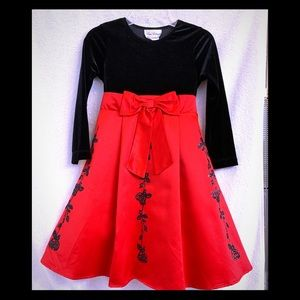 Rare Editions Black & Red Holiday Dress Girls 6